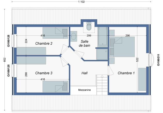 Plan_Maison_Bambou_Etage