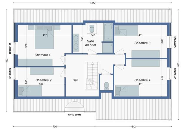 Plan_Maison_Chataigniers_Etage