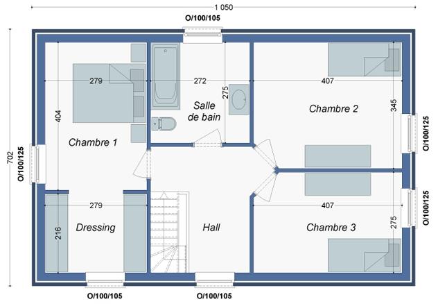 Plan_Maison_Manguier_Etage