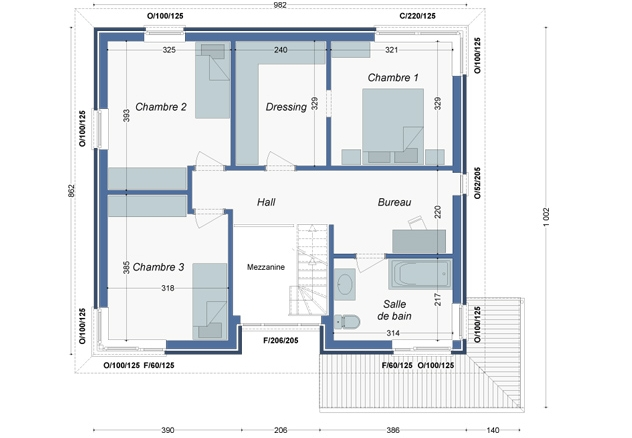 Plan_Maison_Marronniers_Etage